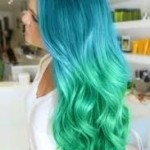 teal purple ombre