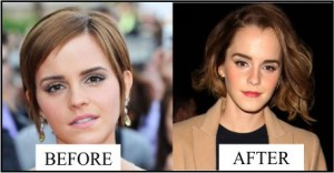 before after Emma watson